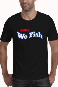 harga Rick's Clothing -Tshirt Rapala We Fish - Hitam Lazada.co.id