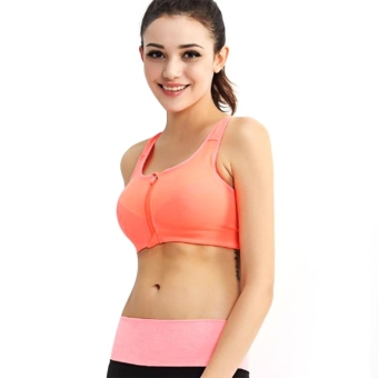 Active U-Neck Zippered Ladies Racerback Crop Top Jacinth (Intl)