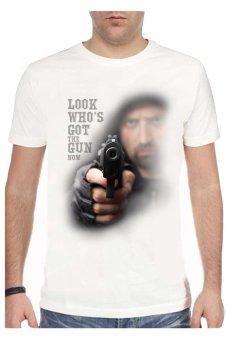 T-Shirt Glory Kaos 3D Gun 2 - Putih
