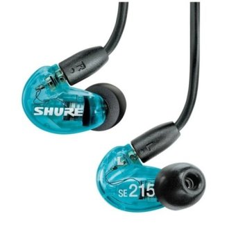 Shure SE215SPE-A Special Edition Dynamic Microdriver In-Ear Headphones - Biru