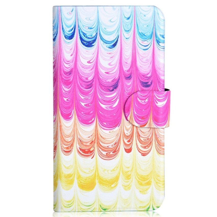 Colorful Ice Cream Design Card Slot Magnetic PU Leather Flip Case Cover Compatible For Samsung GALAXY S4 Active I9295 i537