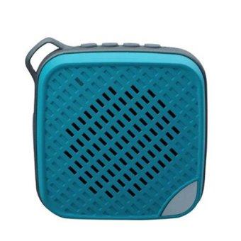 YM-305 Sport Water Resistant Bluetooth Speaker w/ Microphone (Blue) - Intl