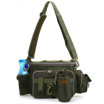 Multifunctional Bag Lure Waist Pack Pouch Pole Package Fishing Tackle (Army Green)- Intl