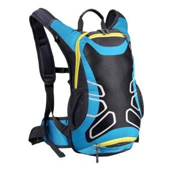 New Fashion Waterproof Outdoors Sports Running Hiking Mountain Climbing Cycling Bicycle Backpack (Blue) - Intl