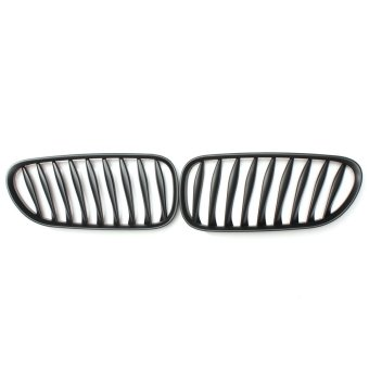 New Pair Left & Right Matte Black Kidney Sport Grille Grill for BMW Z4 2003-2008 - Intl