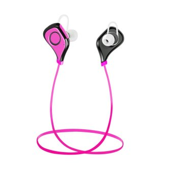 Wireless Bluetooth Stereo Sports Earphone Sweatproof Headphones for Smartphones (Violet) - Intl