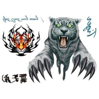 harga Body Art Wrist Tiger Designs Temporary Tatto Sticker Lazada.co.id