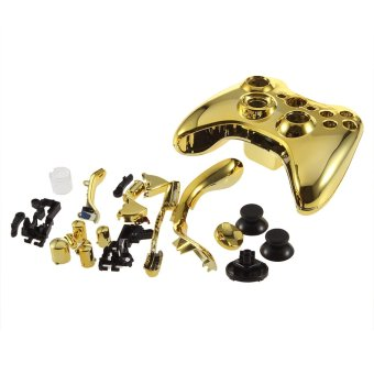 Wireless Controller Case Shell Cover For XBox 360 Plating Gold Accessories