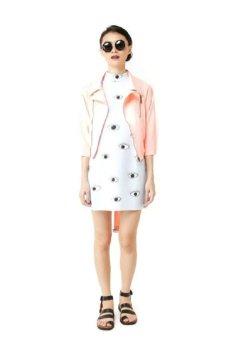 Select/Brand Peach Silk Jacket