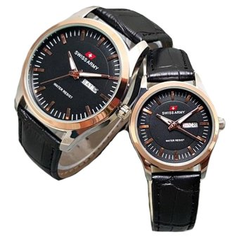 harga Swiss Army - Jam Tangan Couple - Leather Strap - SA 1345 BcG couple Lazada.co.id