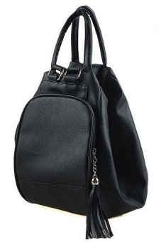 MAKER Women 4 Way Premium PU Leather Bag Black - INTL