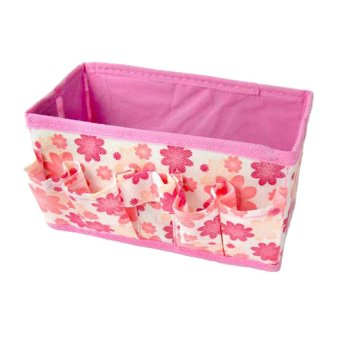 S & F Cosmetic Folding Make Up Storage Box Container Bag Case Stuff Organizer - Intl