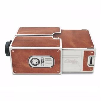 Universal Portable Cardboard Smartphone Projector 2.0 - Cokelat