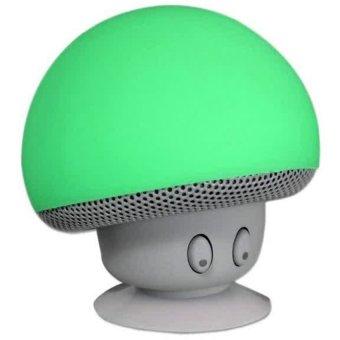 Bluetooth Speaker Portable Small Mushroom Style Mini - Hijau