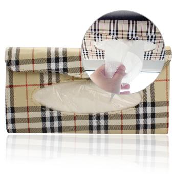 harga PU Leather Auto Car Sun Visor Tissue Box Accessories Holder Paper Napkin Clip Lazada.co.id
