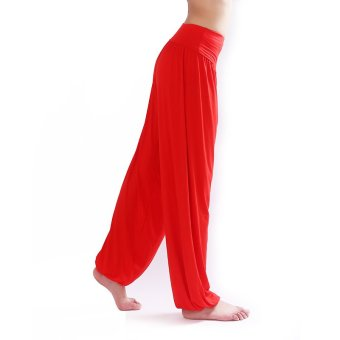 Sports Outdoors Clothing Women Modal Dancing Yoga Pants Bright-Red- Intl