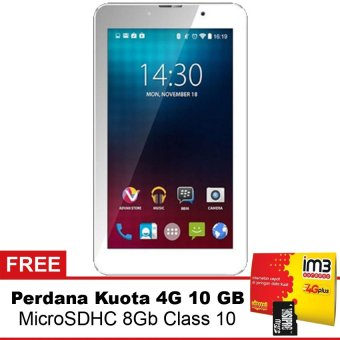 Advan I7 LTE - 8GB - Putih + Gratis Mmc 8Gb + Data 10Gb