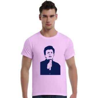 Singer Cotton Soft Men Short T-Shirt (Pink) - Intl