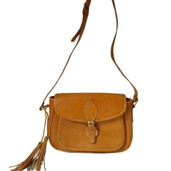 LIN'S Craft Tas Selempang - Vitage Oval - Coklat Muda