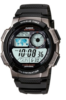 harga Casio Digital AE-1000W-1BVDF - Jam Tangan Pria - Hitam - Resin Lazada.co.id