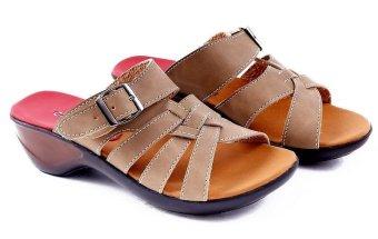 Garucci GB 7161 Sandal Kelom Wanita - Synthetic - Bagus (Krem)