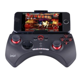 Ipega Mobile Wireless Gaming Controller Bluetooth 3.0 for Apple and Tablet PC with Multimedia Keys - PG-9025 - Hitam