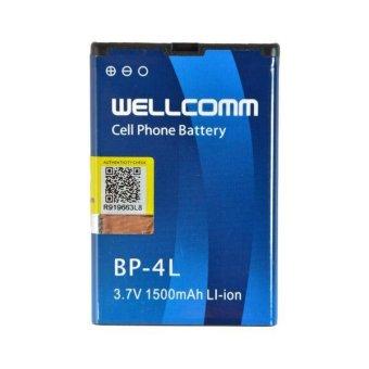 Wellcomm Battery Nokia BP-4L 1500 mAh - Biru terpercaya