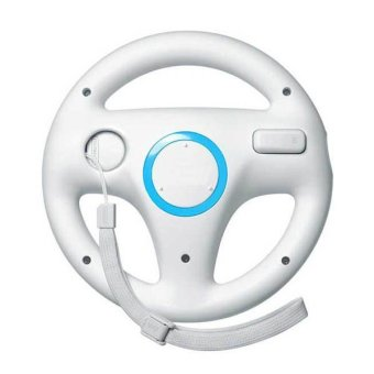 Generic White Steering Mario Kart Racing Wheel for Nintendo Wii Remote Game (Intl)