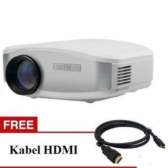 TiFo C6 CHEERLUX mini LED projector 800x480 pixels 1200 lumens Home theater + TV Tunner Free HDMI - Putih