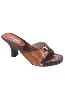Fashionisia Sandal Heels Wanita - Coklat