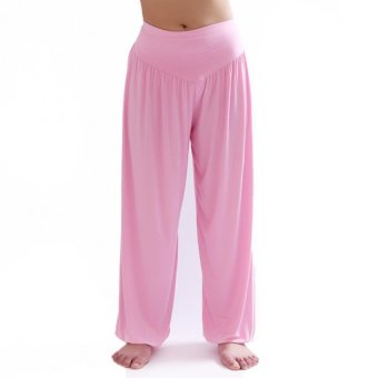 Sports Outdoors Clothing Women Modal Dancing Yoga Pants Pink- Intl