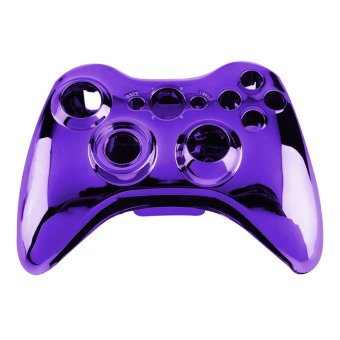 Wireless Controller Shell Case Bumper Thumbsticks Buttons Game for Xbox 360 (Purple) (Intl)