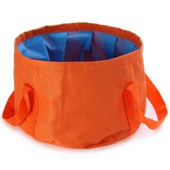 Portable 15L Outdoor Foldable Washbasin Basin Bucket Bowl Sink Water Pot (Intl)