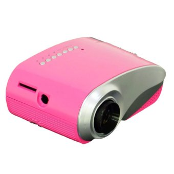 Portable Mini 802 1080P Multimedia LED Projector For Home Theater (Color: Pink) - Intl