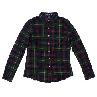 niceEshop Fashion Women Loose Cotton Plaid Casual T Shirt Top - Intl
