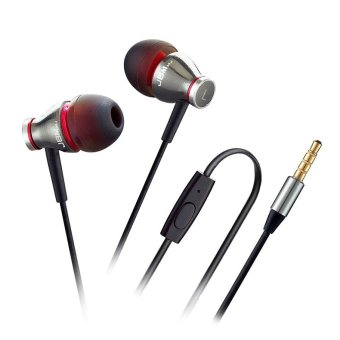 Stereo Earphone for iPhone Android Smartphone Tablets MP3 Player (Silver) (Intl)