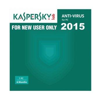 Kaspersky Anti Virus 2015 - 1 New User - 6 Months