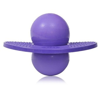 Hot Colorful Rock Hopper Balance Pogo Jumping Exercise Space Ball Toy Ball-Purple (Intl)