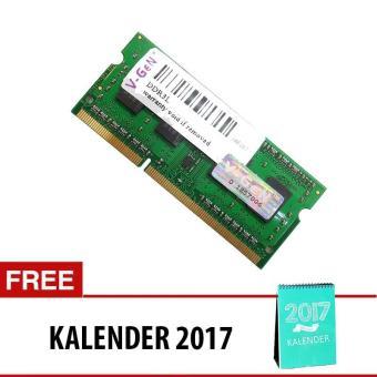 V-GEN DDR3 SO-DIMM Unbuffered 204pin (Low Voltage) [8GB PC-12800/1600 Mhz] + Free Kalender
