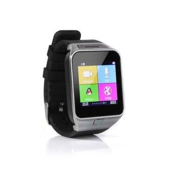 GV08 Smartwatch Quad Band 1.54 Inch Bluetooth BT Dialer Camera gt08 Smart Watch Phone (Black) (Intl)