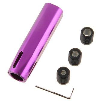 POSSBAY Purple Aluminum Long Handle Car Gear Shift Knob Shifter Lever Universal Manual Transmission (Purple) - Intl