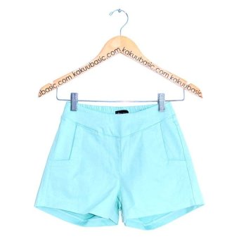 Kakuu Basic Korea Waist Band Denim Hot Pants - Biru Muda