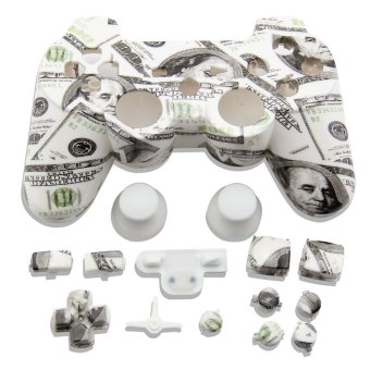 Good Quality Full Housing Hydro Dipped $100 Shell Case Button Mod Kit For PS3 Controller Custom Replacement Housing Shell Case (Intl)