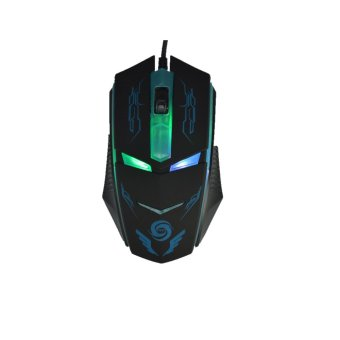 MAIZI K2 4 buttons USB wired gaming mouse mice fot Laptop Desktop (black) (Intl)
