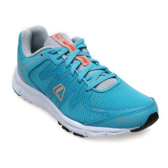 League New Volkov Sepatu Lari Wanita - Scuba Blue-Vapor Blue Grey