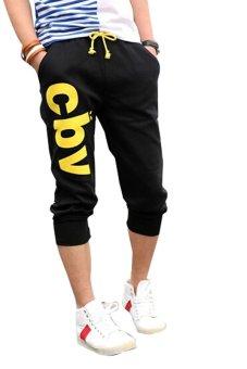 Dimana Beli Ghope Men Casual Jogging Trousers Fashion Shorts - Hitam