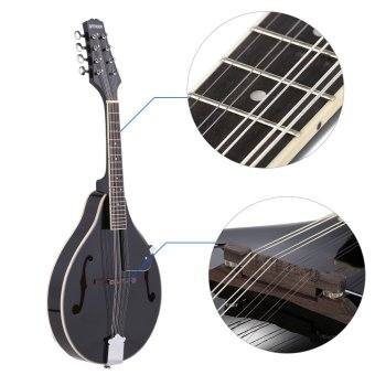 ammoon A-Style Mandolin 8 Strings Basswood Body Rosewood Bridge Fingerboard with Gig Bag Outdoorfree (Intl)