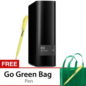 Jual Western Digital MyBook 8TB Premium Storage 3.5 USB 3.0 - Hitam + Gratis Go Green Bag + Pen