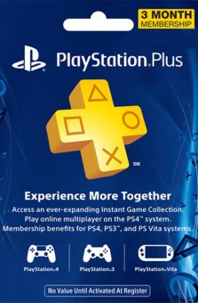 Sony Playstation Network 3 Month Membership