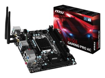 harga MSI Gaming Intel Skylake B150I LGA 1151 DDR4 USB 3.1 Mini ITX Motherboard (B150I Gaming Pro AC) Lazada.co.id
